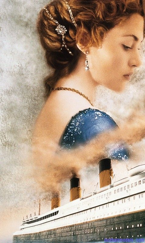 Kate Winslet's Titanic hair style: Red haired curly updo