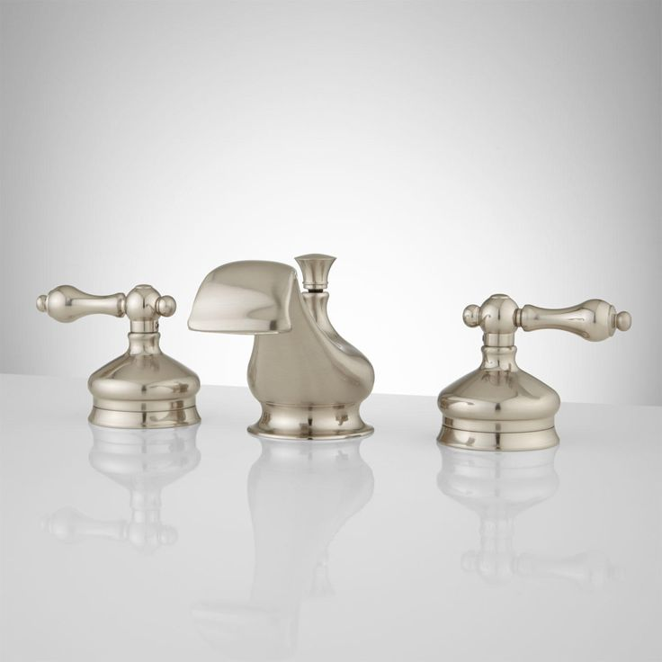 Shannon Widespread Bathroom Faucet - Lever Handles - Brushed Nickel