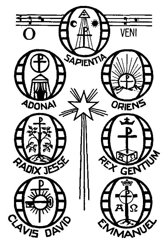The O Antiphons for Advent Catholic Coloring Page
