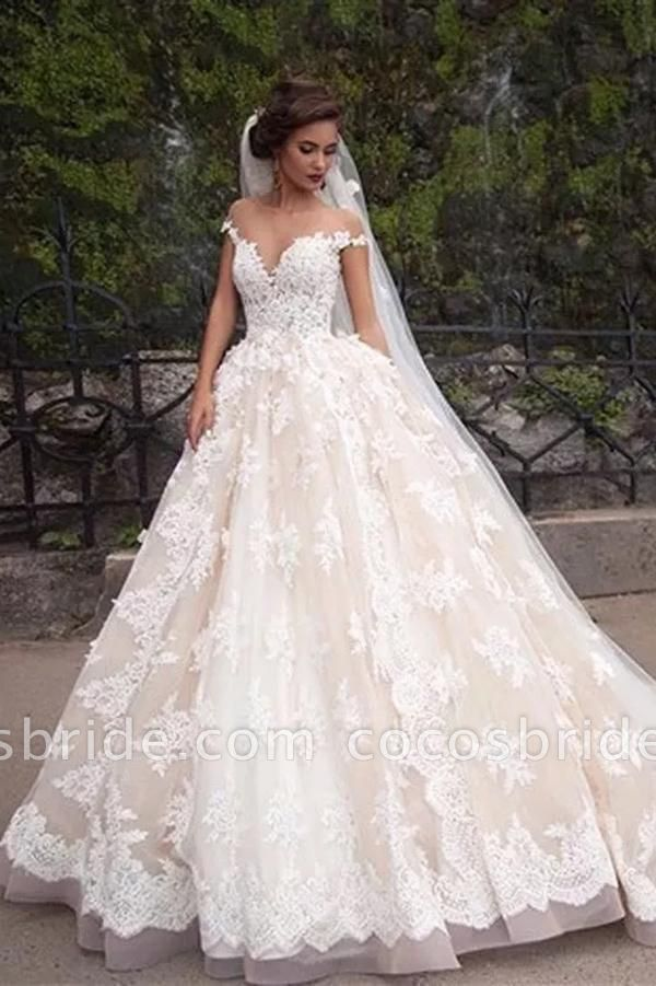 Gorgeous Sheer Cheap Vintage Lace Wedding Dresses 2020 In 2020 Ball Gowns Wedding Off Shoulder Wedding Dress Wedding Dresses Lace