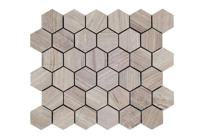 """Escarpment 2"""" Hexagon (honed)"""