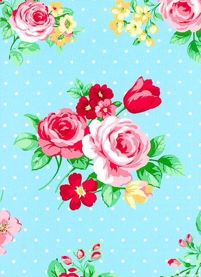 Japanese Import- Flower Sugar Bouquet- Blue Topaz $10.25 yd equilter.com