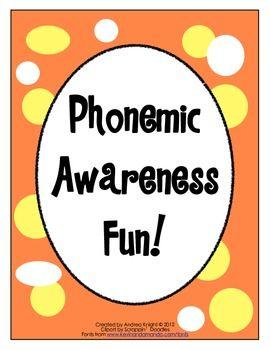 Phonemic Awareness Fun!  (Hands-on, kinesthetic activities)  $2.00