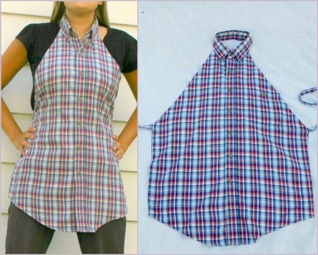 Man shirt apron