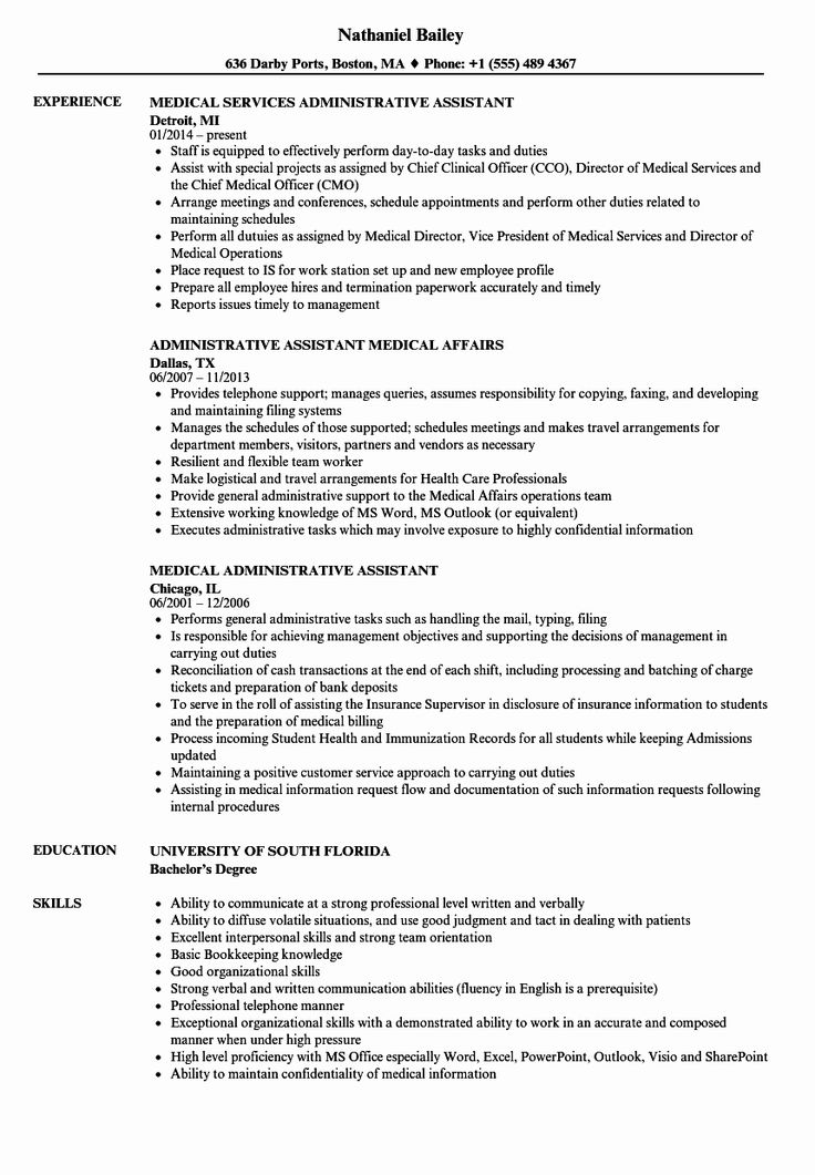 Admin assistant Job Description Resume Fresh