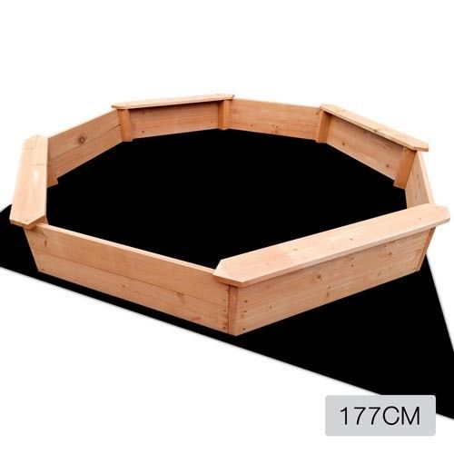 Wooden Octagon Children's Sand Pit Outdoor Play Set 177x177cm