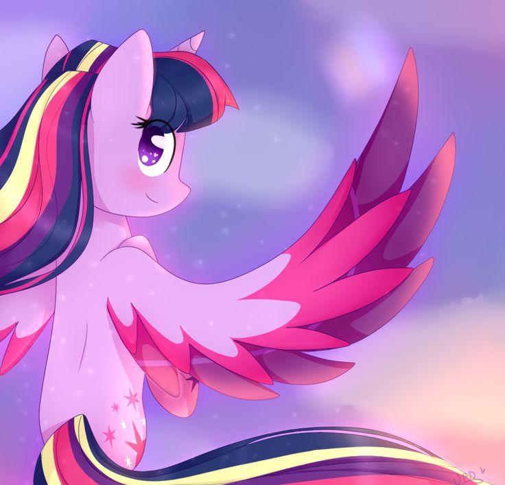 #1258665 - artist:ultrard, princess twilight, rainbow power, safe, solo, twilight sparkle - Derpibooru - My Little Pony: Friendship is Magic Imageboard