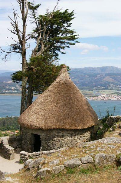 Celtic village, castros de Santa Tecla, Galicia,