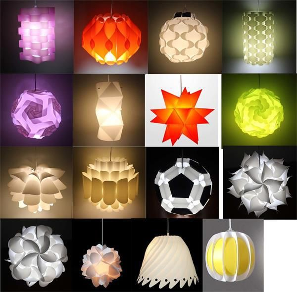 2016 NEW ARRIVAL DIY IQ Puzzle Infinity light Jigsaw lamp Ideal Custom Lighting Lampshade Kit of 30 pieces