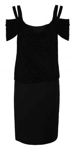 Caterina, modna czarna sukienka, opadające ramiona, elegancka sukienka, stylowa sukienka, https://sklep.caterina.pl
