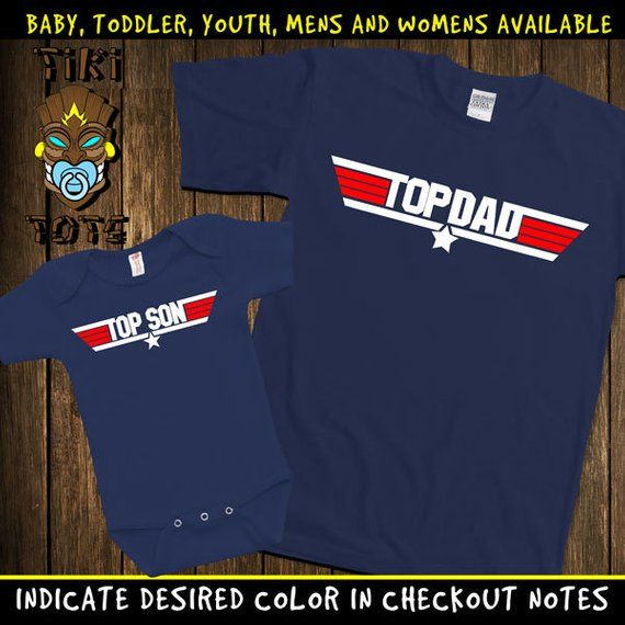 Top Son /& Top Dad Baby Gift Set with Baby T-Shirt /& Father/'s T-Shirt