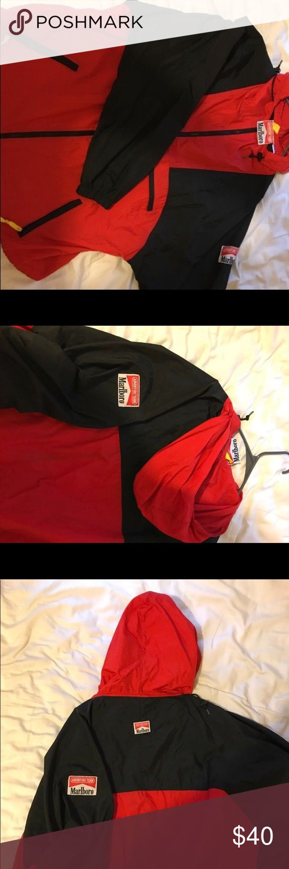 Vintage Marlboro Adventure Team windbreaker Vintage Marlboro windbreaker marlboro Jackets & Coats Windbreakers