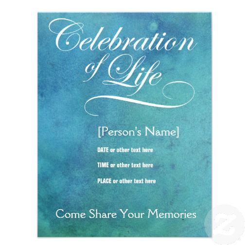 17 Best images about Planning a celebration of life on – Memorial Service Invitation Template