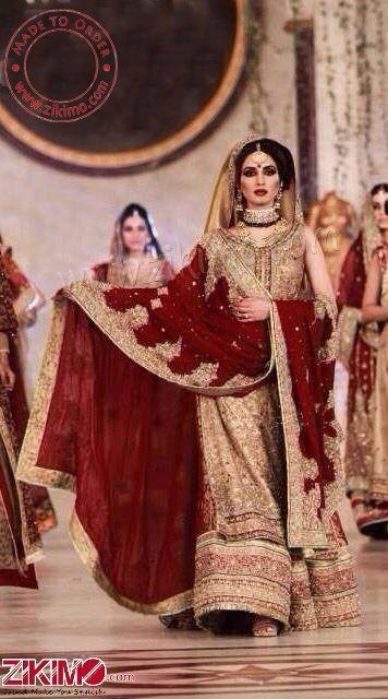 Be The Diva With This Maroon Pakistani Bridal Lehenga