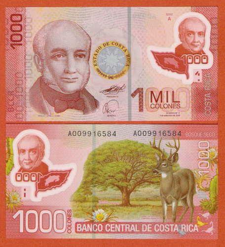 P274 Costa Rica 1000 Colones 2009 UNC in Münzen, Papiergeld Welt, Amerika | eBay