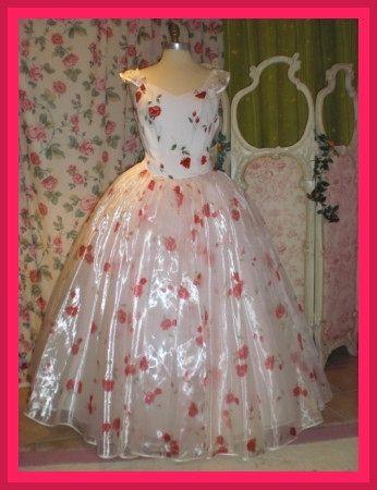 Ballkleid Brautkleid mit Rosen Gr. 40  Abendkleider  Pinterest