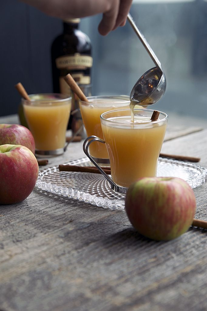 """Spiked, Mulled Cider (omit alcohol if you must, or just a few drops for a hint of liquor, but live a little!!!) ...one of my """"Foods to Warm the Bones"""""""