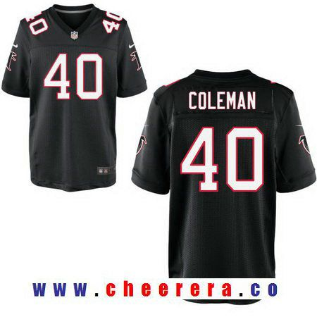 f899a1b03 ... Brett Favre Black Jersey Alternate 4 NFL Atlanta Falcons Nike Mens  Atlanta Falcons 40 Derrick Coleman Black Alternate Stitched NFL Nike Elite  Jersey ...