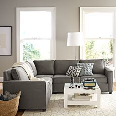 Living Room Furniture and Modern Living Room Furniture | west elm I love a gray sectional