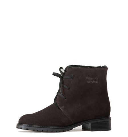 brown waterproof- suede Palmroth Original lace-up ankle boot