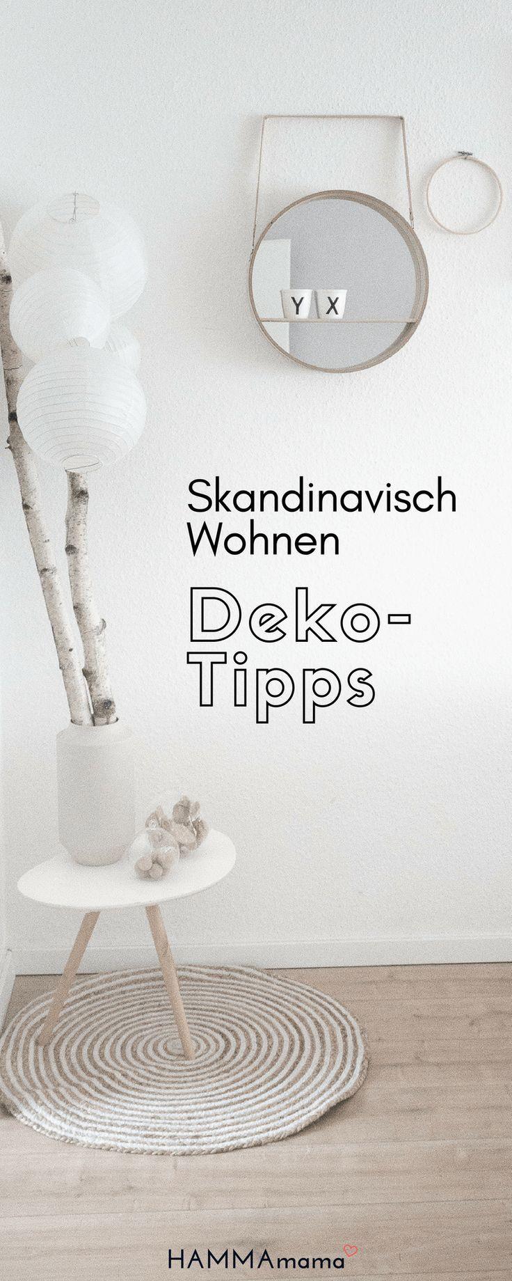 Scandinavian Living: Einrichtungsgegenstände im Wohnzimmer mit Dekorationsideen für den Sommer …   – DIY Deko