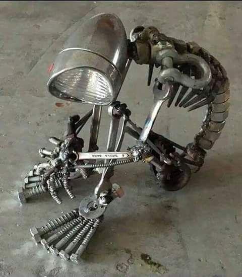 Asombrosas esculturas con chatarra