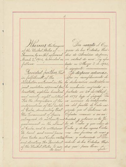 Platt amendment page 1 - Cuba–United States relations - Wikipedia, the free encyclopedia