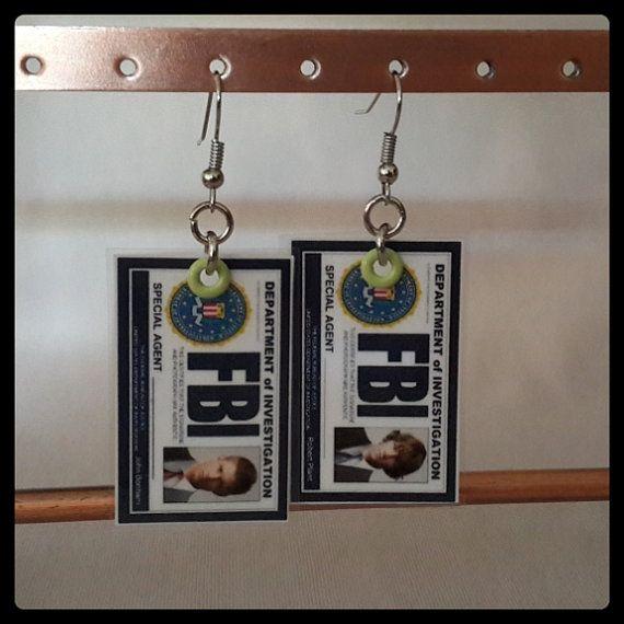 Supernatural FBI earrings by MissMoan on Etsy