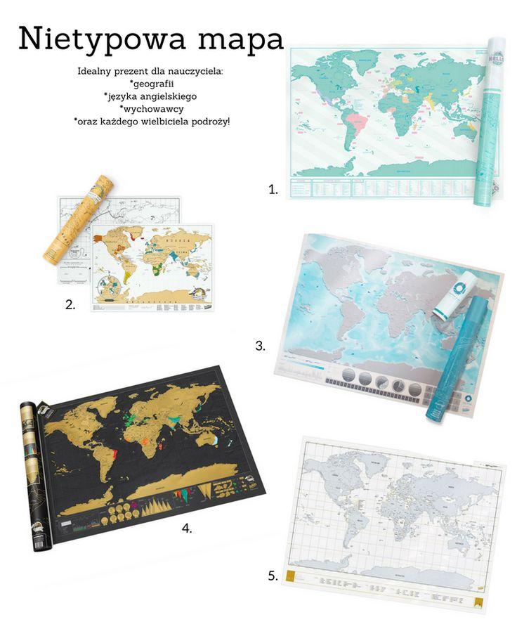 Pomysł na prezent dla nauczyciela, nie tyko geografii i języka angielskiego.