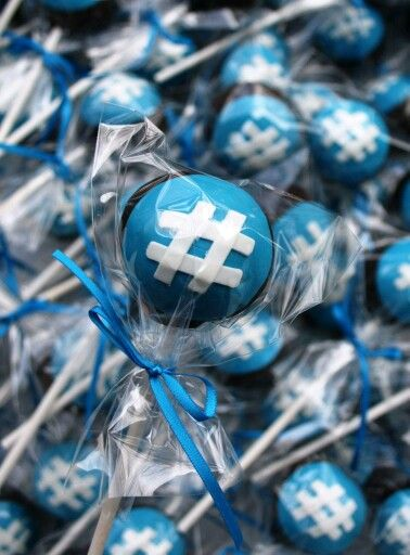 Hash tag cake pops.