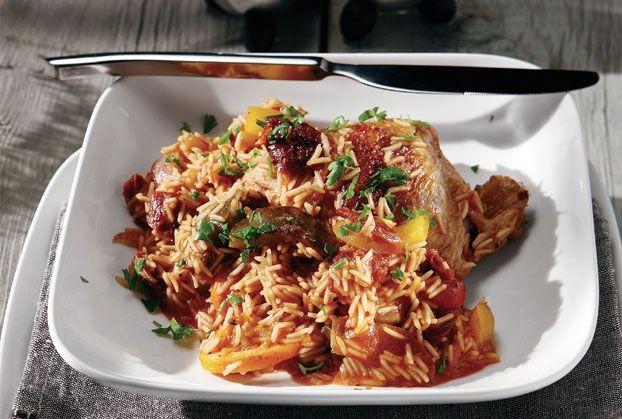Κοτόπουλο με πολύχρωμο πιλάφι-featured_image