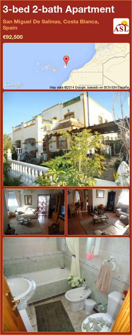 3-bed 2-bath Apartment in San Miguel De Salinas, Costa Blanca, Spain ►€92,500 #PropertyForSaleInSpain
