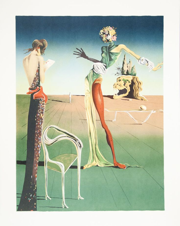 Title: Femme a tete de roses (Woman with Head of Roses). Artist: Salvador Dali. Medium: Lithograph. Condition: B: Very Good Condition, with signs of handling or age. Framed: No. | eBay!