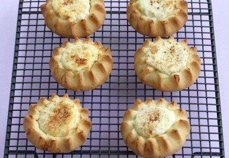 Greek Easter Melitinia: Sweet Cheese Tartlets from the island of Santorini | Greek Food - Greek Cooking - Greek Recipes by Diane Kochilas