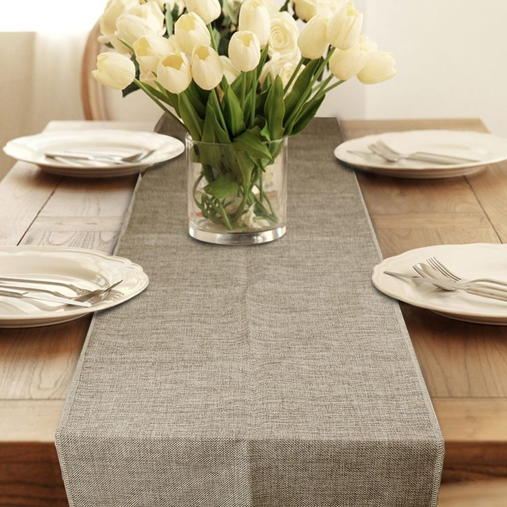 148 best table decoration accessories images on pinterest table runner burlap natural jute imitated linen rustic decor wedding hessian four sizes khaki gray tablecloth junglespirit Choice Image