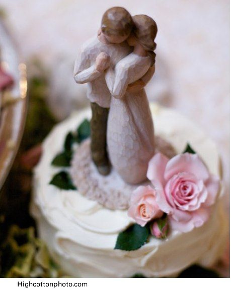 Willow tree wedding cake topper <3