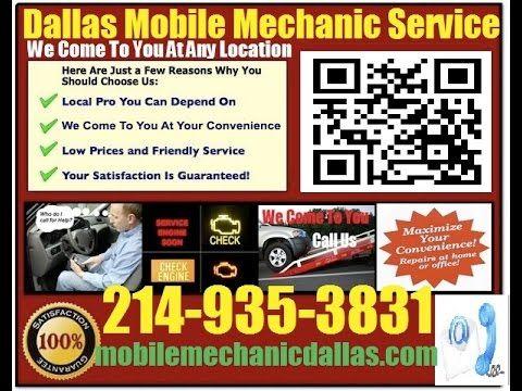 Mobile Mechanic Garland TX auto car repair service shop review that comes to you call 214-935-3831 https://www.youtube.com/watch?v=qJtE7A9fSBU