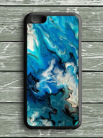 Blue Abstract Watercolor iPhone 6S Plus Case