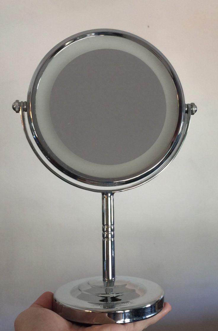 Vintage light up vanity mirror makeup mirror magnifying mirror 90s conair mirror pedestal mirror by Antiekk on Etsy https://www.etsy.com/listing/465586768/vintage-light-up-vanity-mirror-makeup