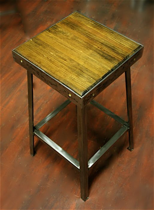 These Stools Are Made Of A Combination Of The Lanes Of A 1960u0027s Bowling  Alley In