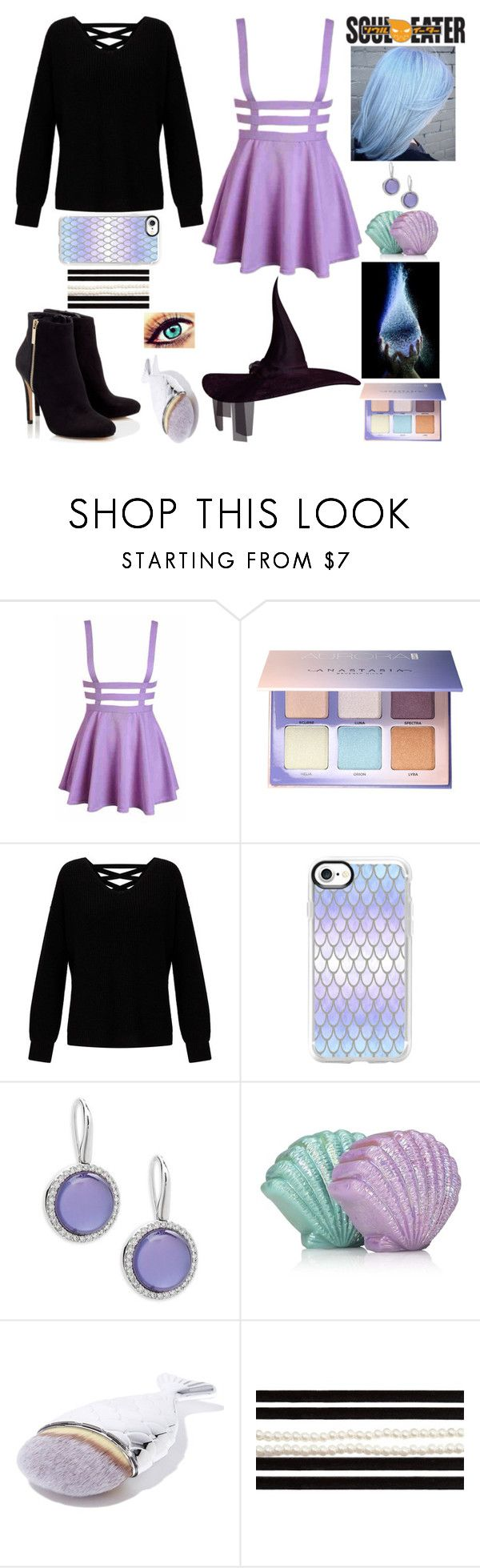 """""""Soul Eater Inspired"""" by lucy-wolf ❤ liked on Polyvore featuring Anastasia Beverly Hills, Miss Selfridge, Casetify, Lipsy, Roberto Coin, Mermaid Salon and New Directions"""