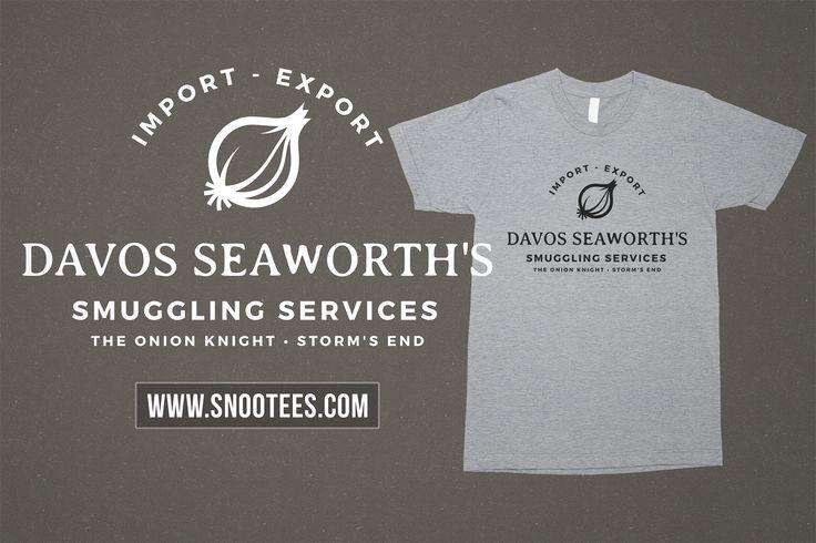 Davos Seaworth's Smuggling Services T-Shirt - Game of Thrones #GameofThrones #GoTSeason6 #Davos #Davosseaworth #GoT #Tee #T-Shirt #Tshirt