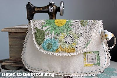 The Liberty Vintage Clutch - Free Pattern & Sewing Tutorial - by Listen to the Birds Sing