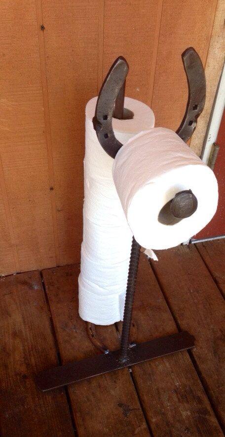 Horseshoe Toilet Paper Holder By Kadyskustomkrafts On Etsy