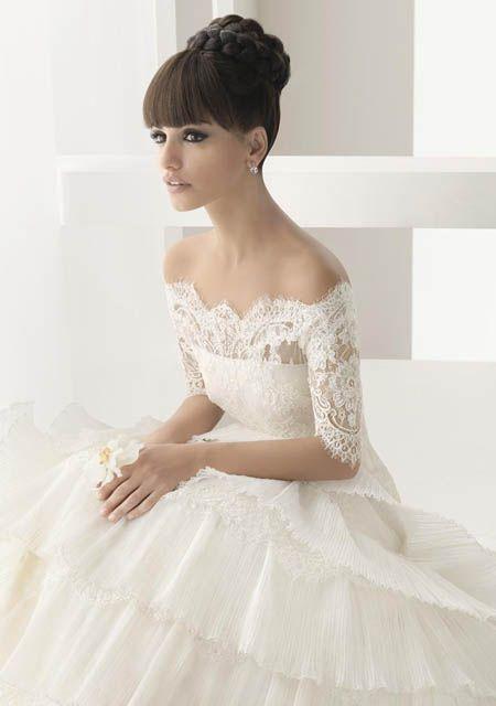 Vestido de novia perfecto, peinado perfecto, maquillaje perfecto! Todo!!