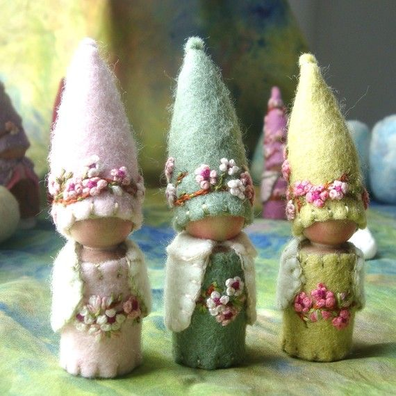 Spring Blossom Gnome Waldorf inspired by paintingpixie on Etsy, $24.00