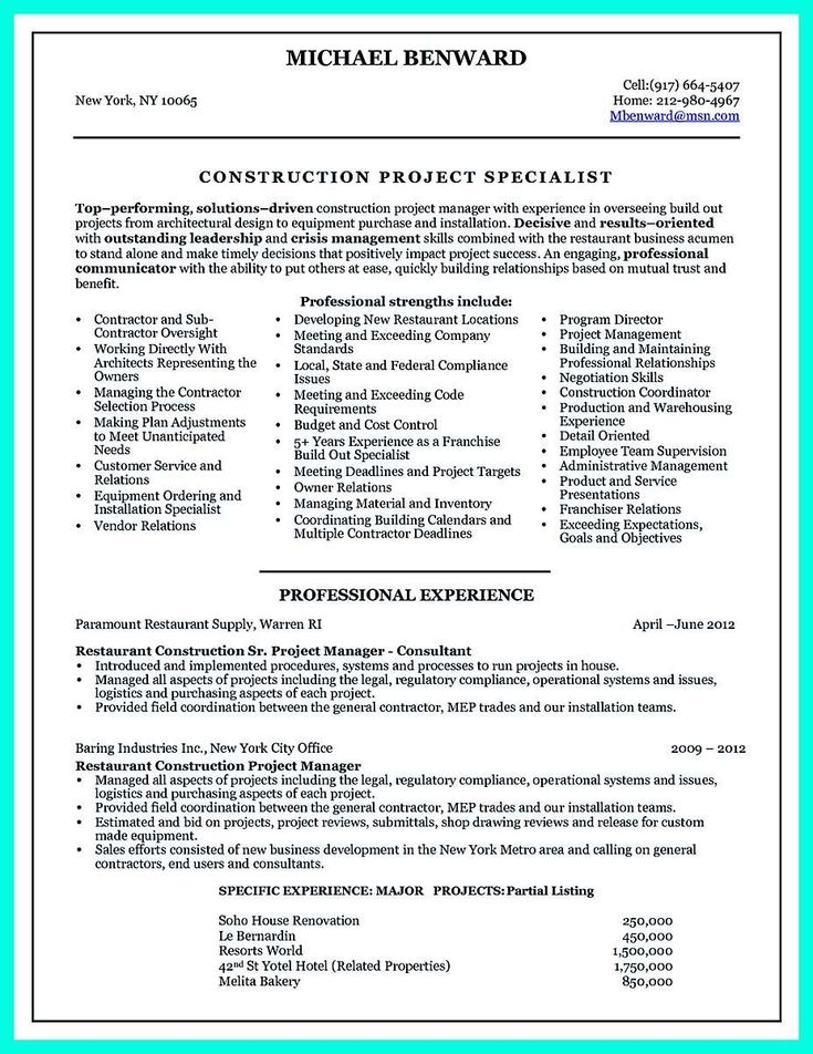 projectmanagerresume  project manager resume