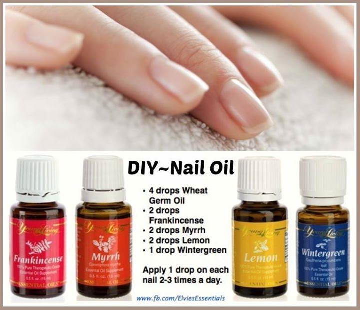 DIY ~ Nail & Cuticle Oil Recipe • 4 drops Wheat Germ Oil • 2 drops ...