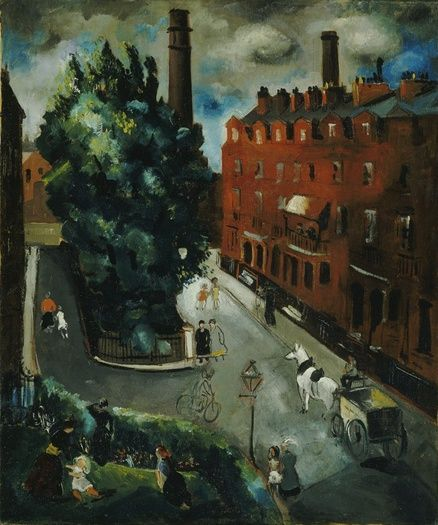 A Chelsea Square (1927) by Christopher Wood