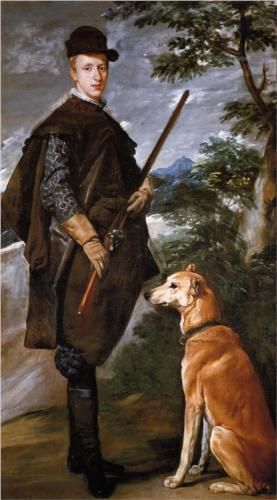 Portrait of Cardinal Infante Ferdinand of Austria with Gun and Dog - Diego Velazquez